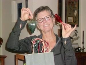 Carol opened  ornaments.