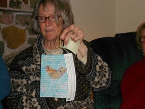 Marylane opened a prayer flag.