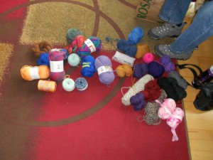 A lot of this was yarn that I brought. I'm serious about getting rid of a lot of 'stuff' this year.